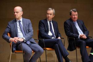 Jean-Michel Blanquer, Ministre de l'Education nationale et Bernard Arnault, PDG de LVMH.
